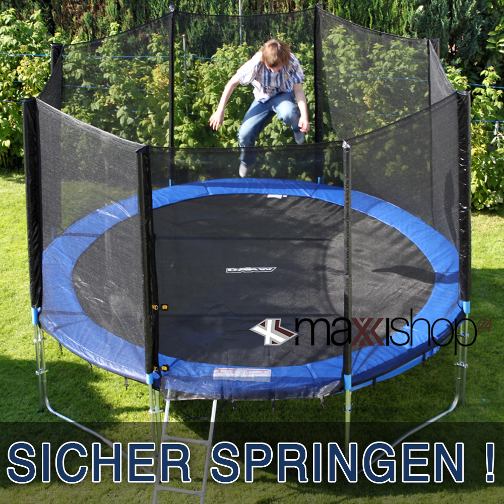 trampolin 305 366 430 cm sicherheitsnetz 10 12 14 ft netz fangnetz ersatzteil ebay. Black Bedroom Furniture Sets. Home Design Ideas