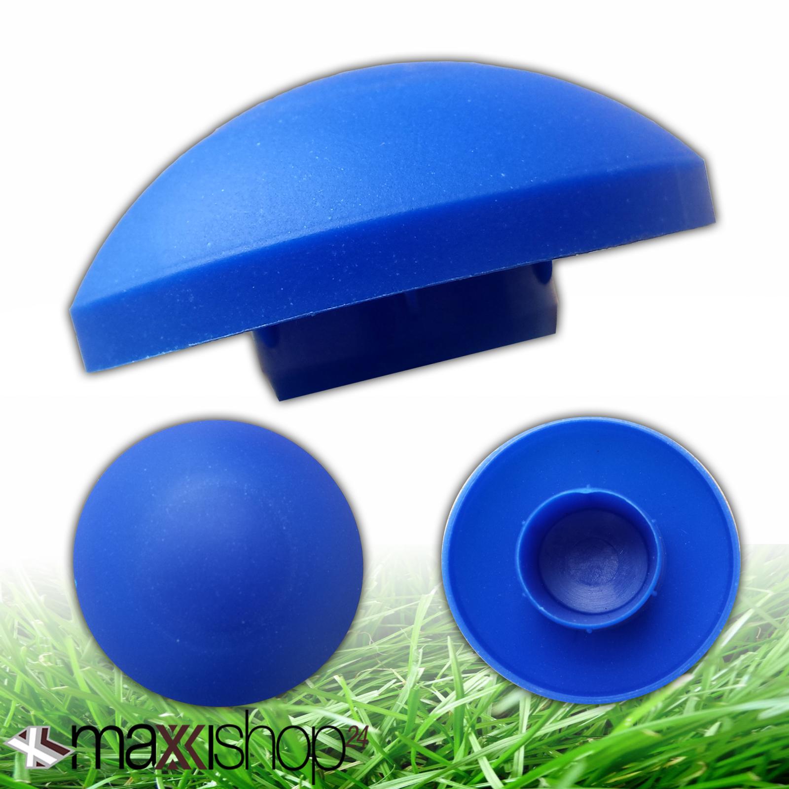 8x trampolin endkappen blau f r stangen pfosten netz ersatzteile zubeh r ebay. Black Bedroom Furniture Sets. Home Design Ideas